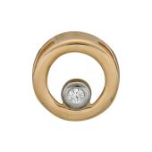 Кулон Викс буква О с бриллиантом, красное золото