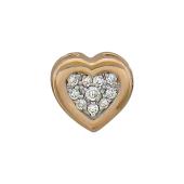 Кулон с бриллиантами Сердце, красное золото