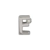 Кулон Викс буква Е, латинская E с бриллиантом, белое золото