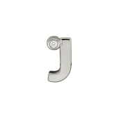 Кулон Викс буква Ж, Джей, латинская J с бриллиантом, белое золото