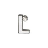 Кулон Викс буква Л, латинская L с бриллиантом, белое золото