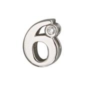 Кулон Викс цифра шесть 6 с бриллиантом, белое золото