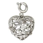 Кулон Холодное Сердце со снежинками и бриллиантами, белое золото