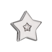 Кулон Викс Звезда с бриллиантом, белое золото