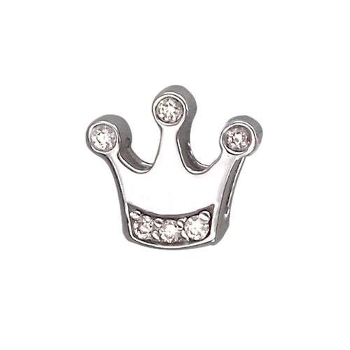 Кулон Викс Корона с бриллиантами, белое золото
