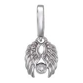Кулон Крылья Ангела с бриллиантом, белое золото