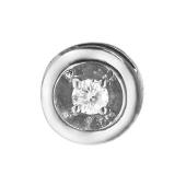 Кулон с бриллиантом круглый, белое золото