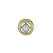 Кулон круглый с бриллиантом, белое золото