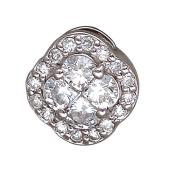 Кулон с бриллиантами, белое золото