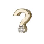 Кулон Викс вопросительный знак с бриллиантом, желтое золото