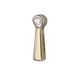 Кулон Викс восклицательный знак с бриллиантом, желтое золото