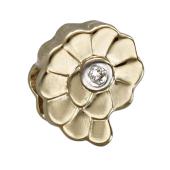 Кулон Викс Ракушка с бриллиантом, желтое золото