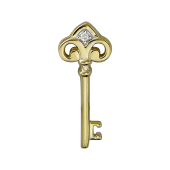 Кулон Викс Ключик с бриллиантом, желтое золото