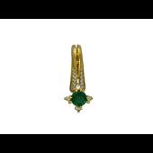 Кулон с бриллиантами и изумрудом, желтое золото