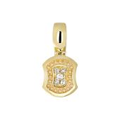 Подвеска с бриллиантом из желтого золота 585 пробы