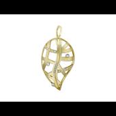 Кулон с бриллиантами, желтое золото