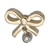 Кулон Викс Бант с бриллиантом, желтое и белое золото