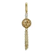 Кулон Азия Шар с бриллиантом, желтое и белое золото