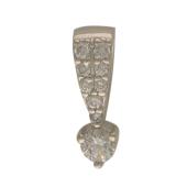 Кулон с россыпью бриллиантов, белое золото 750 проба