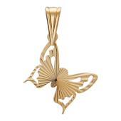 """Кулон """"Бабочка"""" с алмазной огранкой, красное золото, 585 проба"""