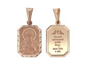 Святой князь Игорь в прямоугольном окладе с алмазной огранкой