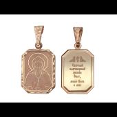 Святой князь Олег в прямоугольном окладе с алмазной огранкой
