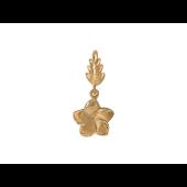 Кулон Цветок, желтое золото