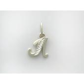Кулон буква Л с алмазными гранями, серебро