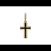 Крест без распятия с эмалью, белое золото 13 мм