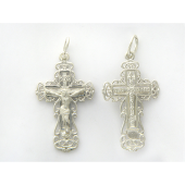 Крестик православный из серебра
