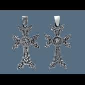 Крест армянский с узорами, серебро