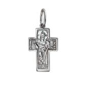 Крест православный прямой из серебра