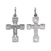 Крест православный с надписью НИКА из серебра