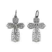 Крест православный широкий ажурный, серебро