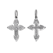 Крест православный крестильный из серебра