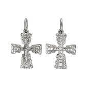 Крест православный с широкими частями, серебро
