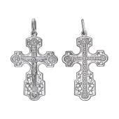 Крест православный ажурный, серебро