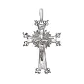 Крест православный Лучистый Венец из серебра