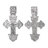 Крест православный с распятием и изображением Спаса, серебро