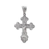 Крест православный с лепестками, серебро