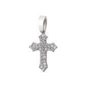 Крест с россыпью фианитов, серебро