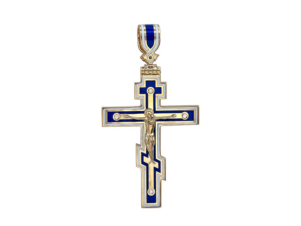 Нательный крестик православный золотой