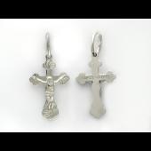 Крест из белого золота 585 пробы