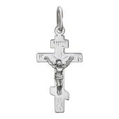Крест православный, белое золото 27 мм