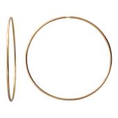 Серьги-кольца конго диаметр 55 мм, красное золото