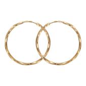 Серьги Кольца конго диаметр 30мм ( 3 см)