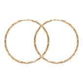 Серьги Кольца конго витые диаметр 44мм ( 4.4 см) красное золото