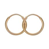 Одиночная серьга-кольцо, красное золото 10 мм