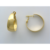 Серьги, полумесяцем, классические, желтое золото, 585 пробы