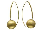 Серьги Золотые Шары с рельефной структурой, желтое золото 585 пробы, d=14mm